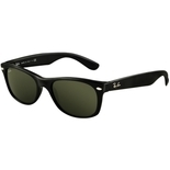Ray Ban New Wayfarer Black/Crystal Green Sunglasses