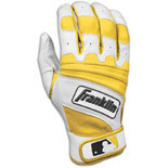 Franklin Natural II Batting Gloves - Mens - Pearl/Forest Green